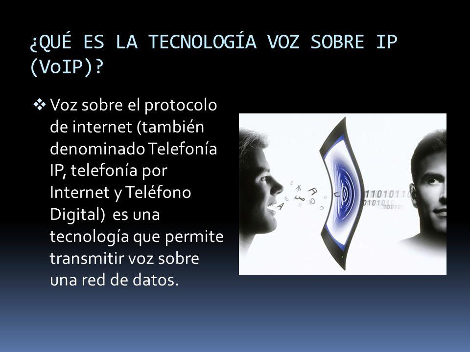 ¿QUÉ ES LA TECNOLOGÍA VOZ SOBRE IP (VoIP)