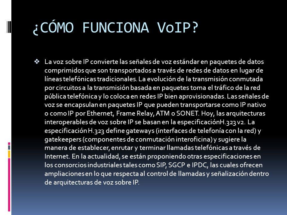 ¿CÓMO FUNCIONA VoIP
