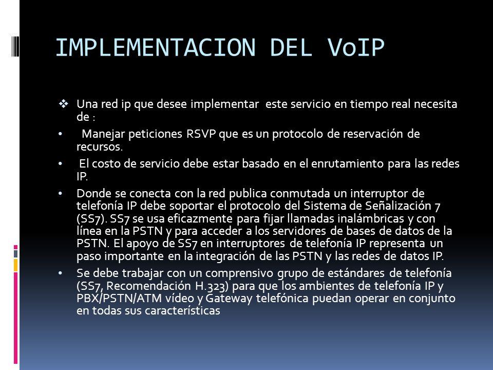IMPLEMENTACION DEL VoIP