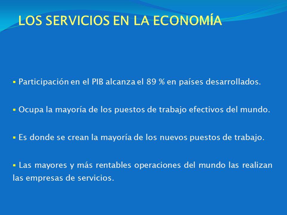 LOS SERVICIOS EN LA ECONOMÍA