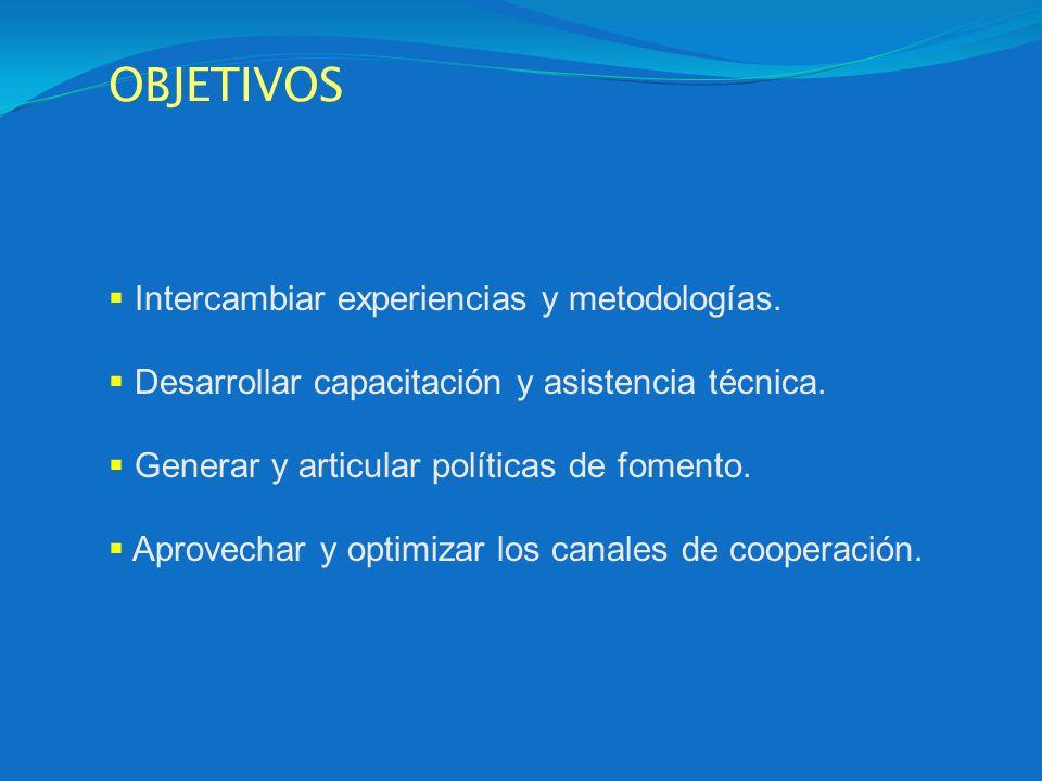 OBJETIVOS Intercambiar experiencias y metodologías.
