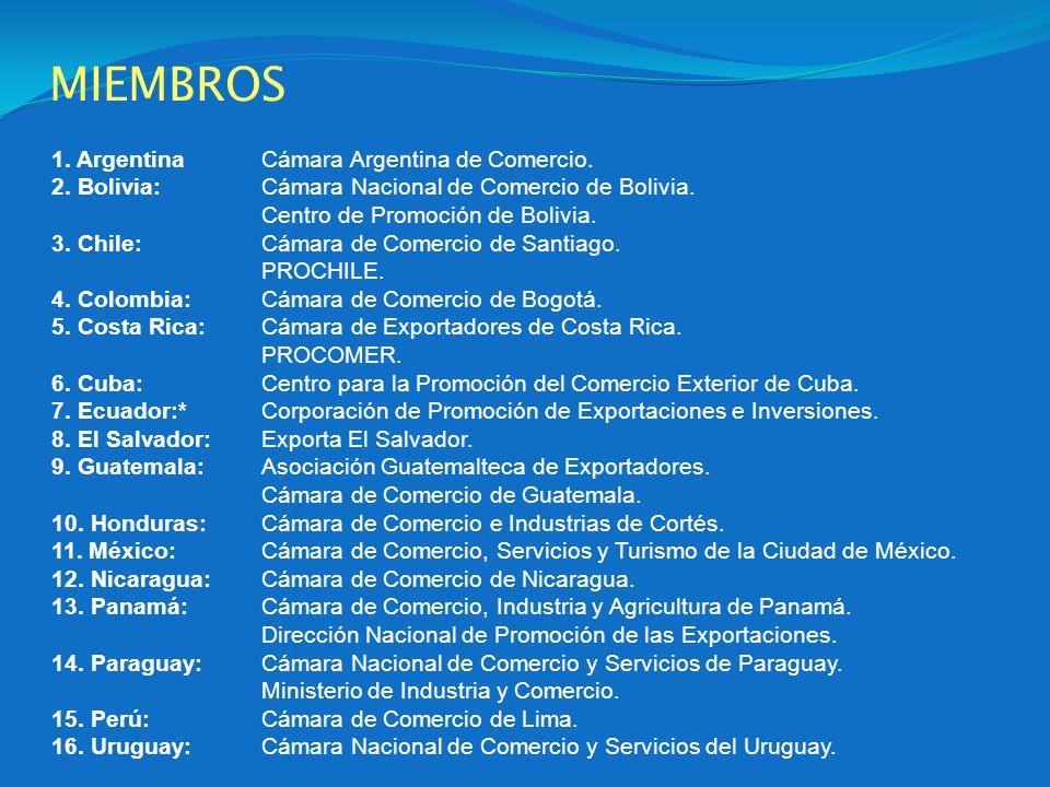 MIEMBROS 1. Argentina Cámara Argentina de Comercio.