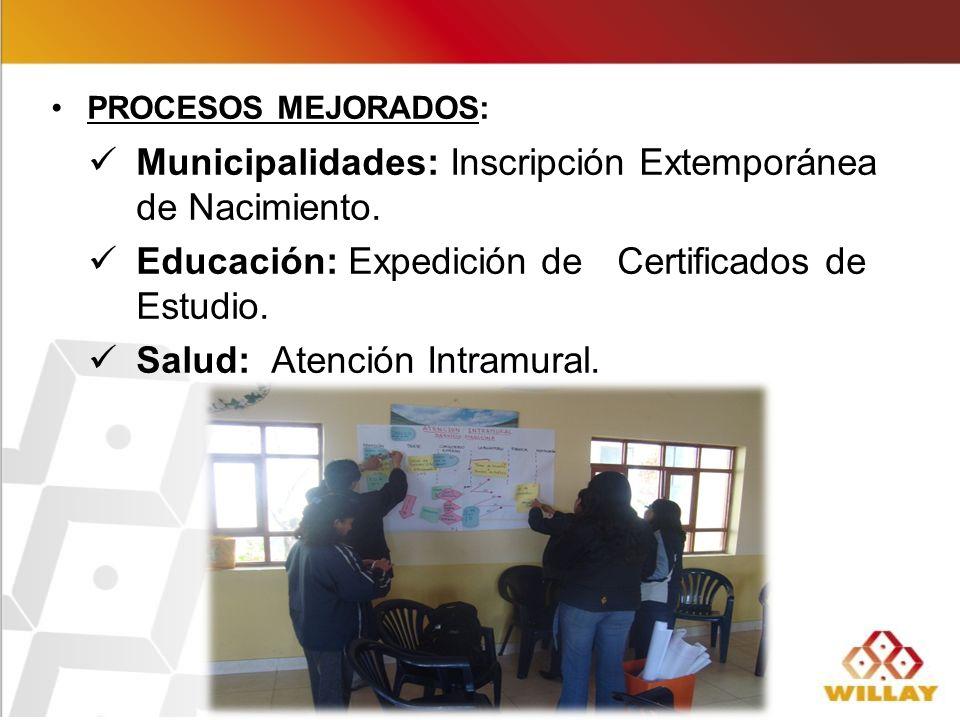 Municipalidades: Inscripción Extemporánea de Nacimiento.