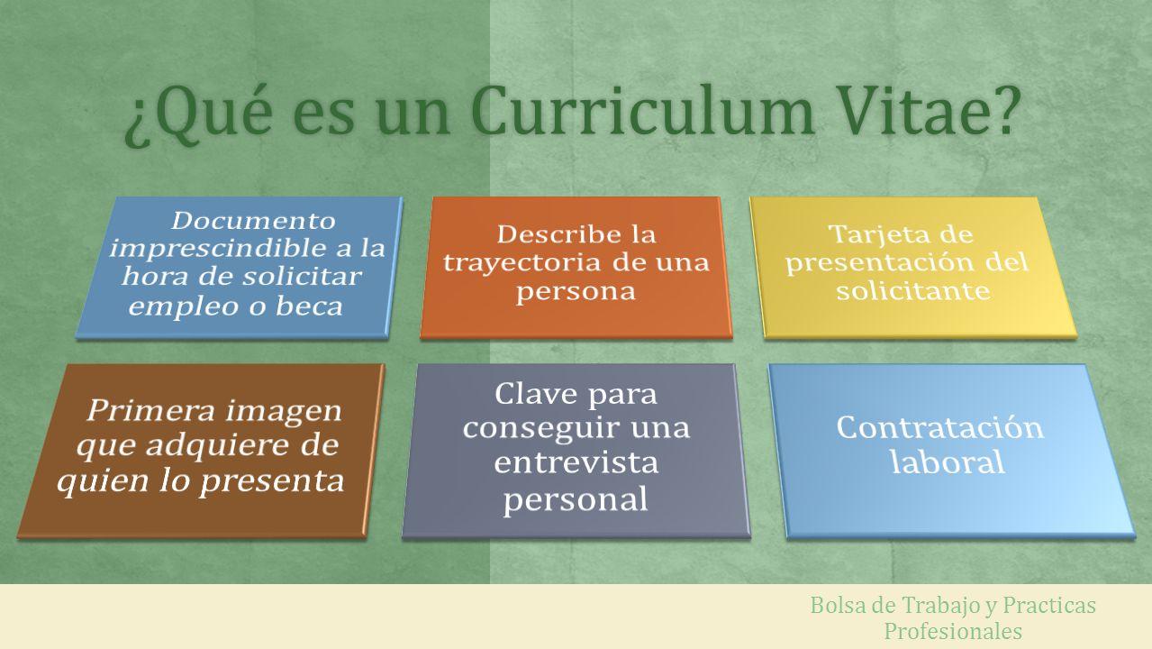 ¿Qué es un Curriculum Vitae