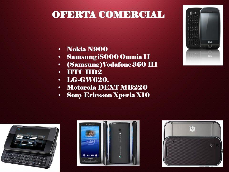 OFERTA COMERCIAL Nokia N900 Samsung i8000 Omnia II