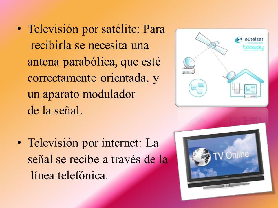 Televisión por satélite: Para