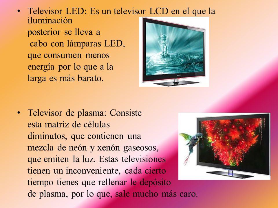 Televisor LED: Es un televisor LCD en el que la iluminación