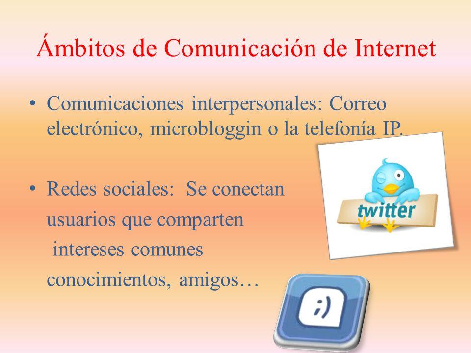 Ámbitos de Comunicación de Internet