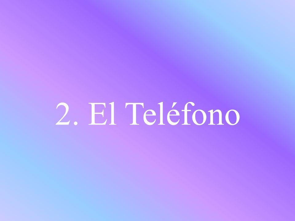 2. El Teléfono