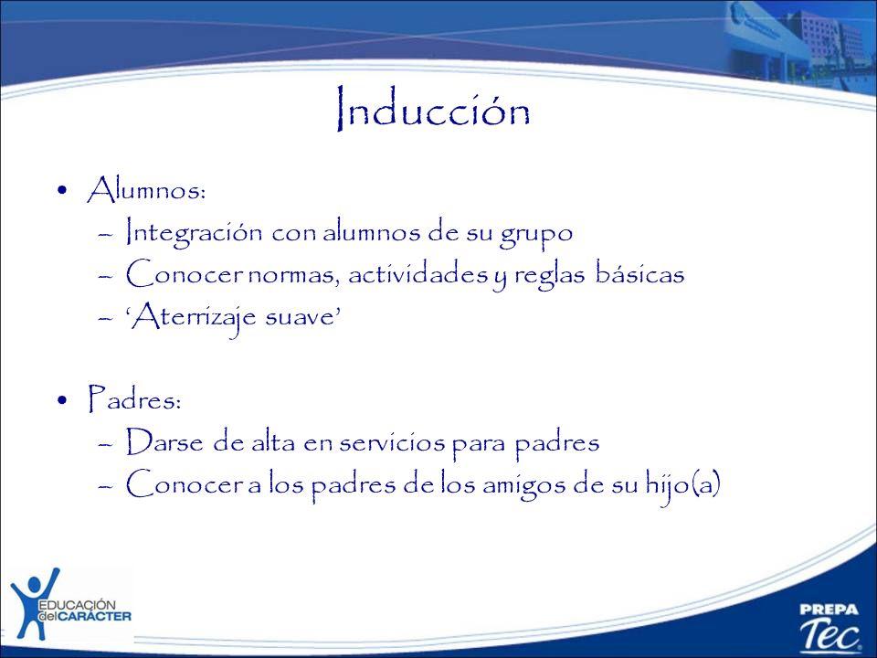 Inducción Alumnos: Integración con alumnos de su grupo