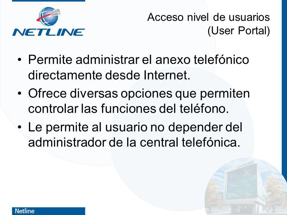 Acceso nivel de usuarios (User Portal)
