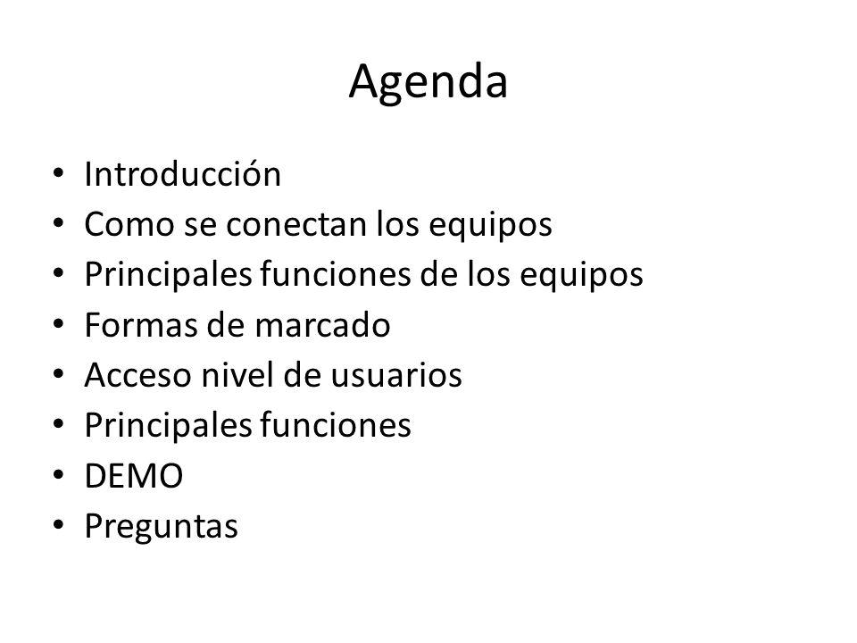 Agenda Introducción Como se conectan los equipos
