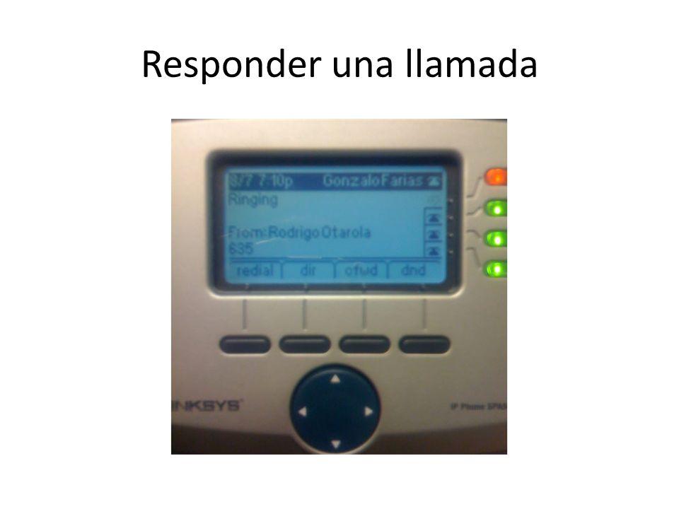 Responder una llamada