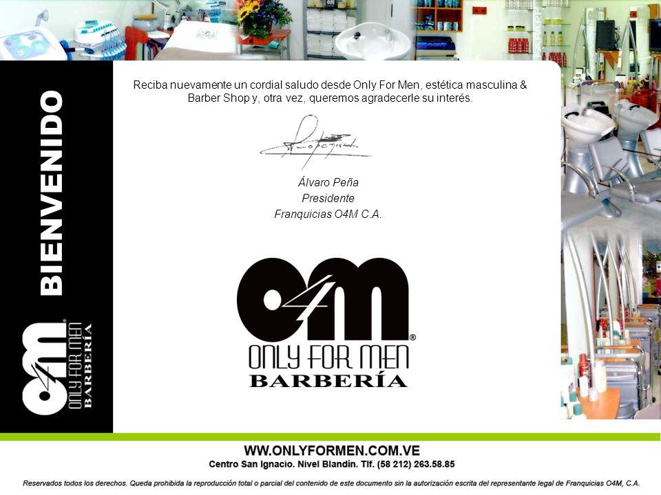 Reciba nuevamente un cordial saludo desde Only For Men, estética masculina & Barber Shop y, otra vez, queremos agradecerle su interés.