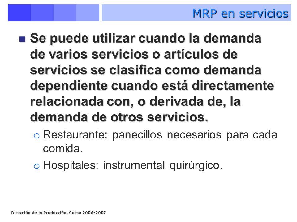 MRP en servicios