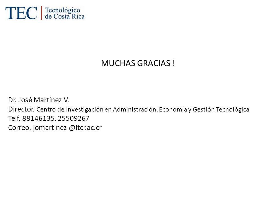 MUCHAS GRACIAS ! Dr. José Martínez V.