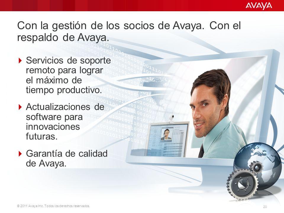 Con la gestión de los socios de Avaya. Con el respaldo de Avaya.