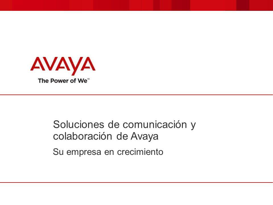 Soluciones de comunicación y colaboración de Avaya