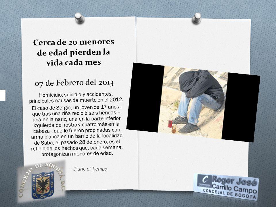 Cerca de 20 menores de edad pierden la vida cada mes 07 de Febrero del 2013