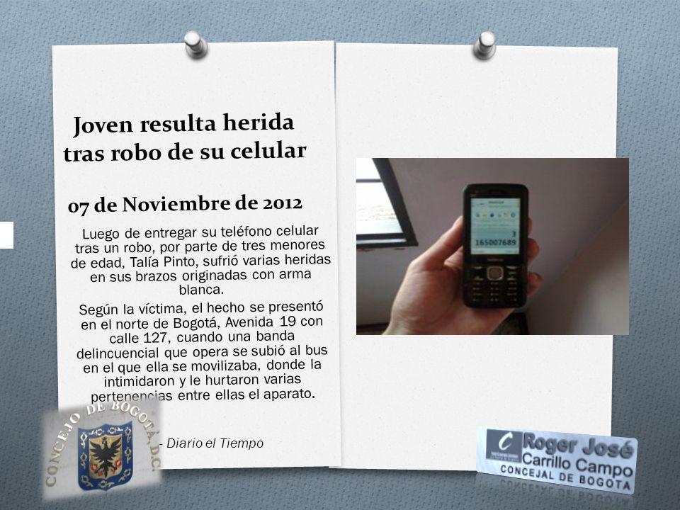 Joven resulta herida tras robo de su celular 07 de Noviembre de 2012