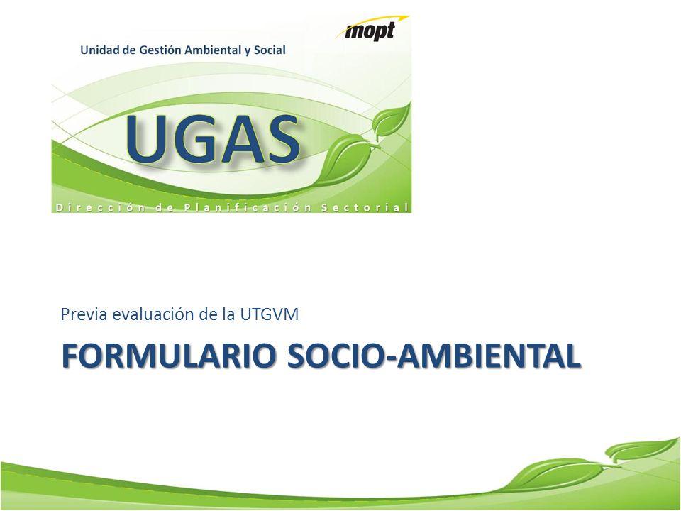 FORMULARIO Socio-ambiental