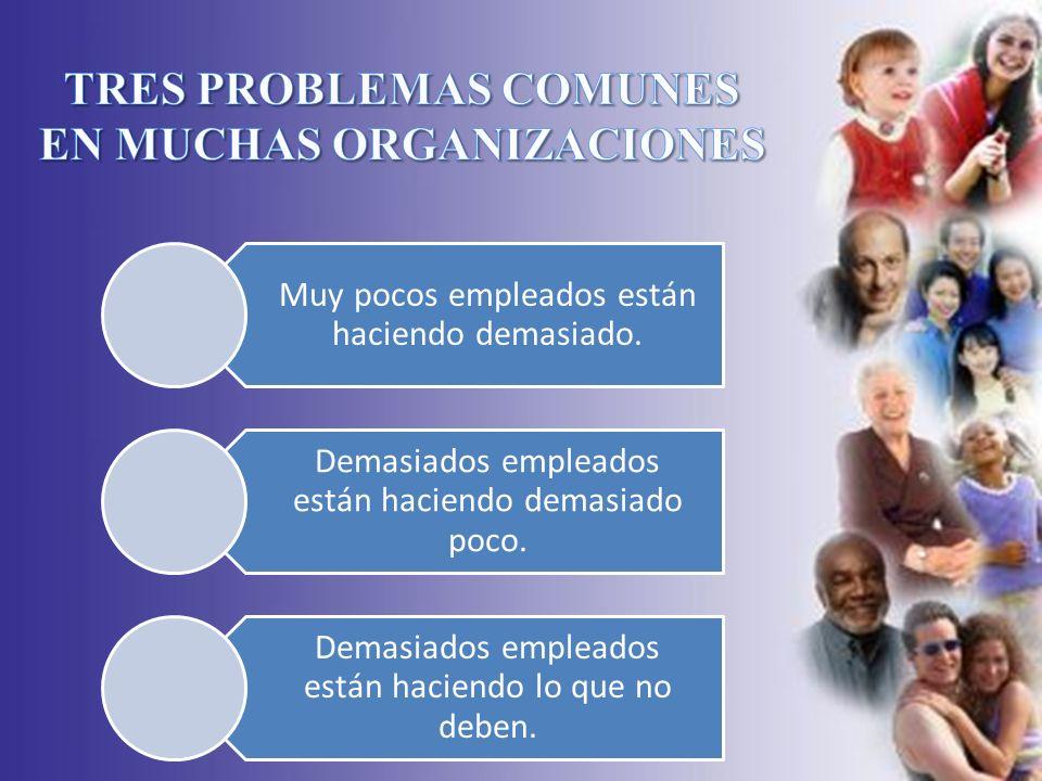 TRES PROBLEMAS COMUNES EN MUCHAS ORGANIZACIONES