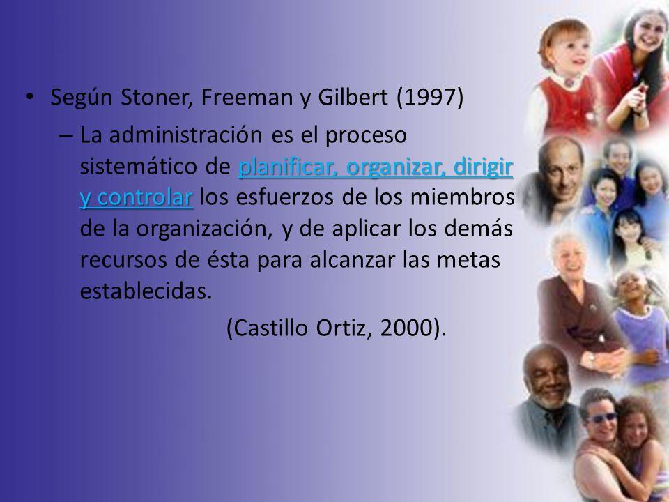 Según Stoner, Freeman y Gilbert (1997)
