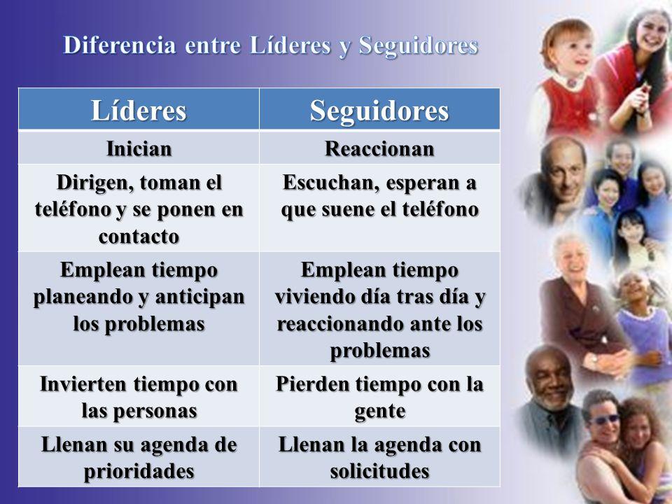 Líderes Seguidores Diferencia entre Líderes y Seguidores Inician