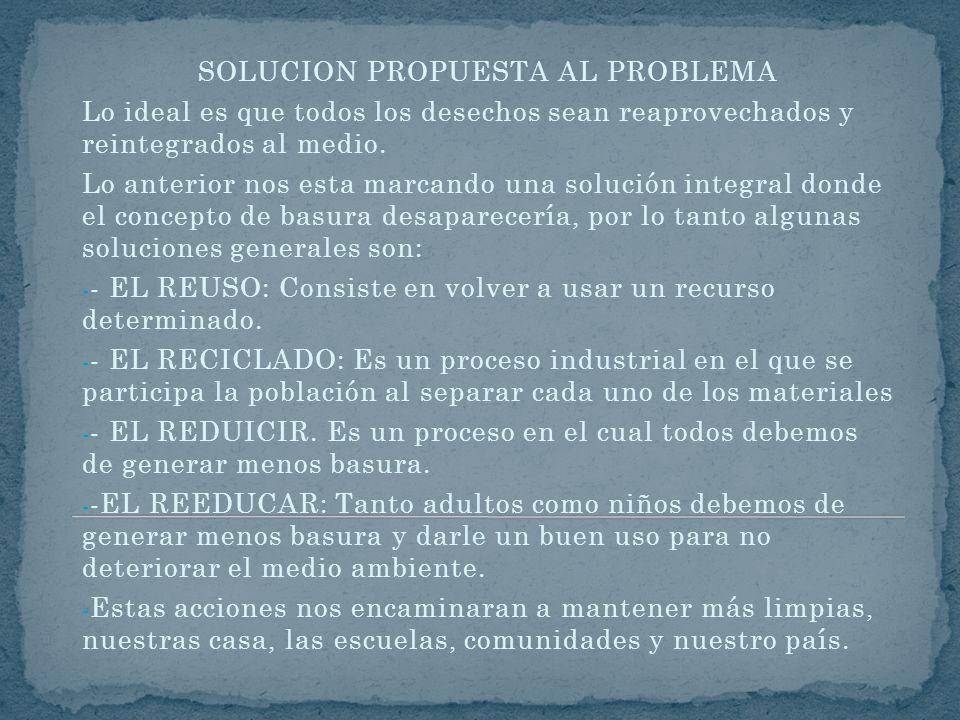 SOLUCION PROPUESTA AL PROBLEMA
