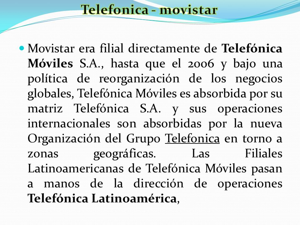 Telefonica - movistar