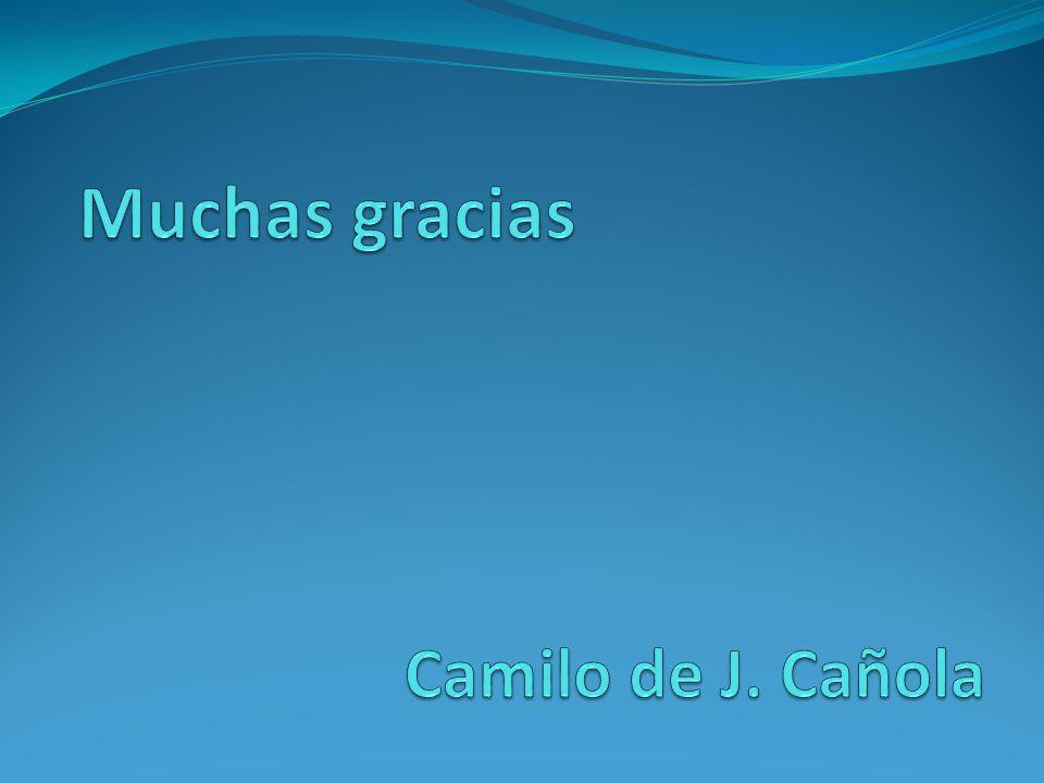 Muchas gracias Camilo de J. Cañola