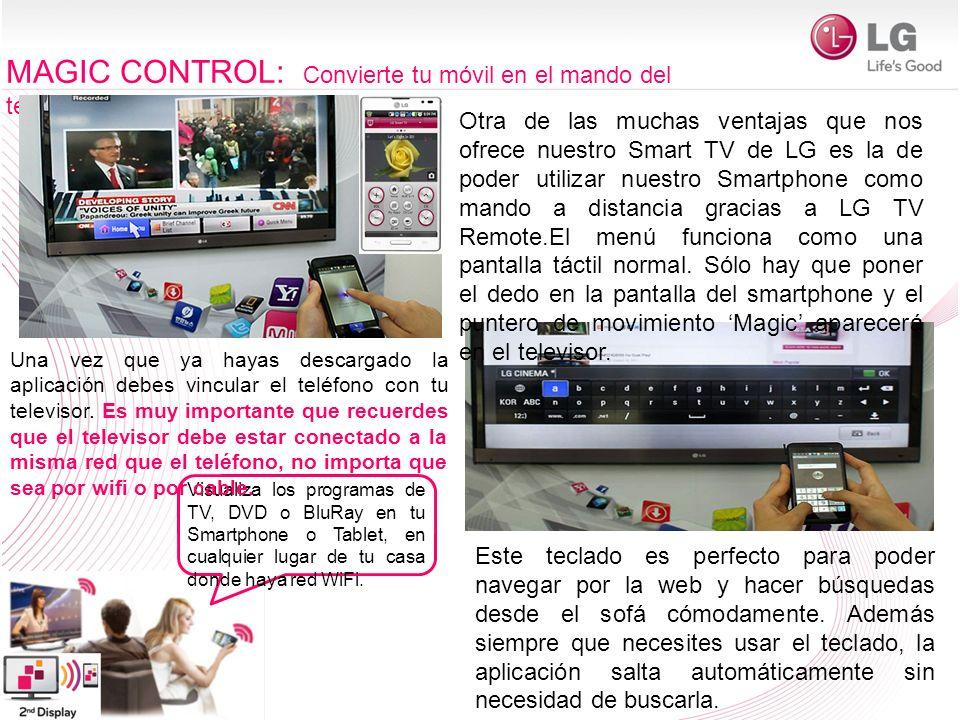 MAGIC CONTROL: Convierte tu móvil en el mando del televisor
