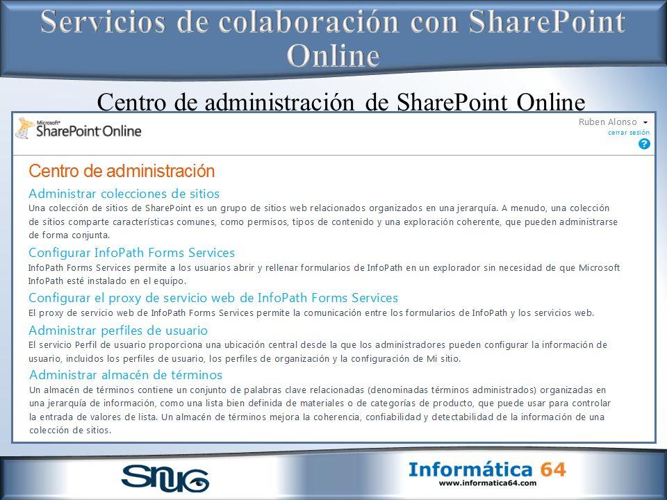 Servicios de colaboración con SharePoint Online