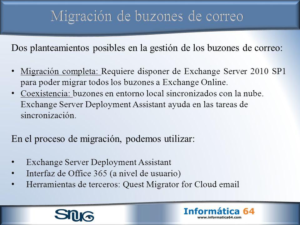 Migración de buzones de correo