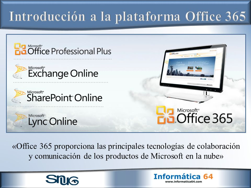 Introducción a la plataforma Office 365