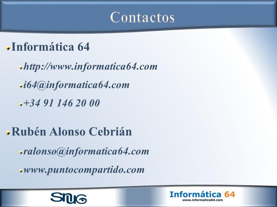 Contactos Informática 64 Rubén Alonso Cebrián