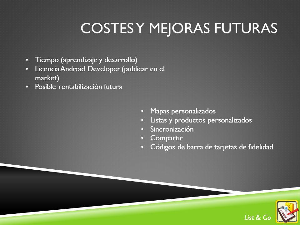 COSTES Y Mejoras futuras