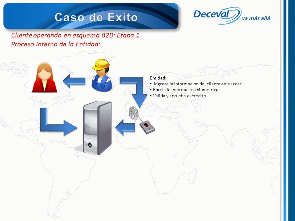 Caso de Exito Cliente operando en esquema B2B: Etapa 1