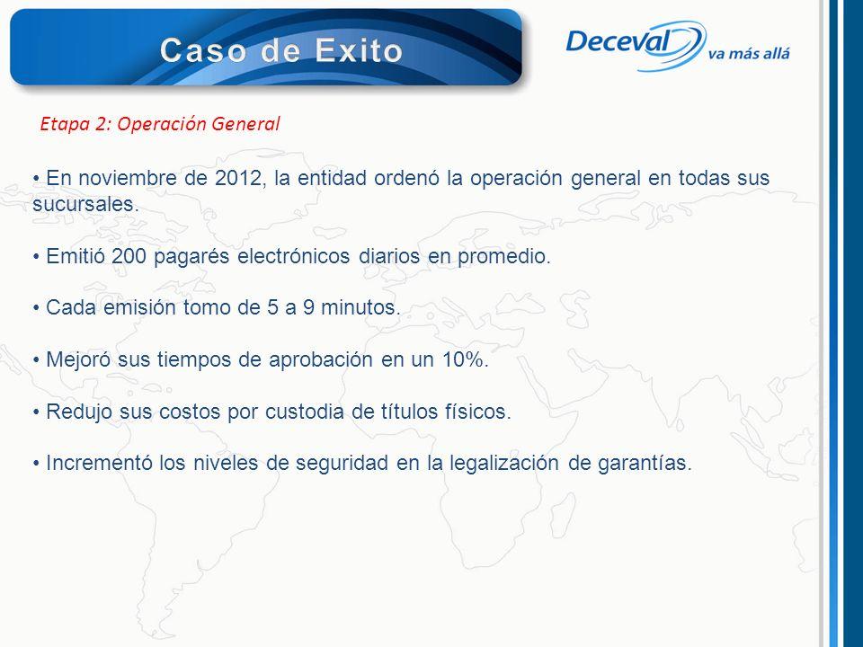 Caso de Exito Etapa 2: Operación General