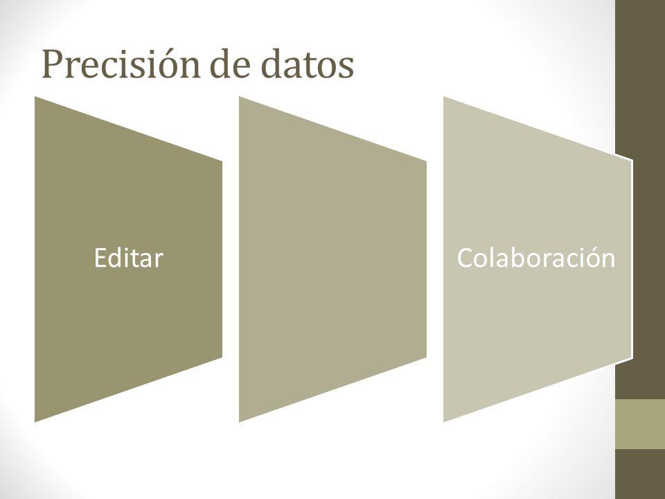 Precisión de datos Editar Colaboración