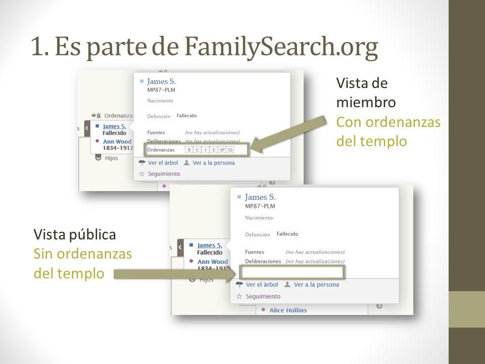 1. Es parte de FamilySearch.org
