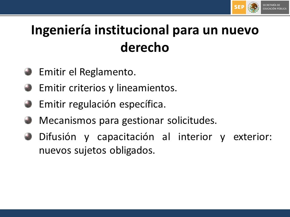 Ingeniería institucional para un nuevo derecho