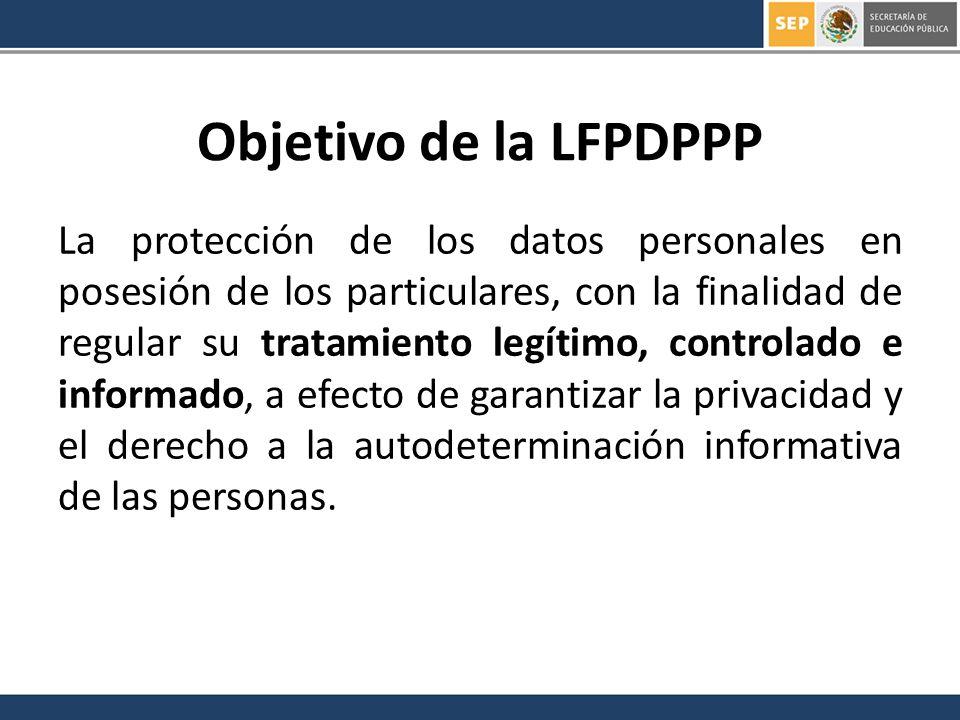 Objetivo de la LFPDPPP