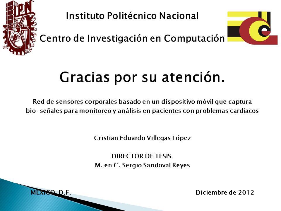 Instituto Politécnico Nacional Gracias por su atención.