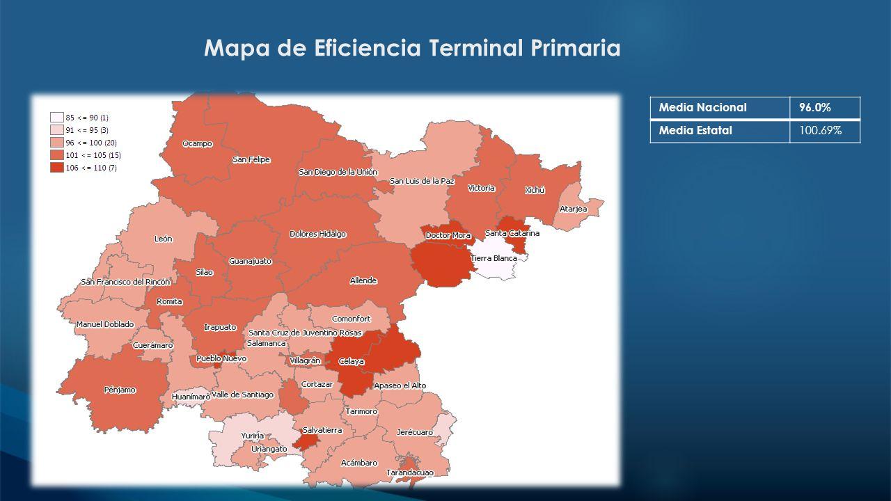 Mapa de Eficiencia Terminal Primaria
