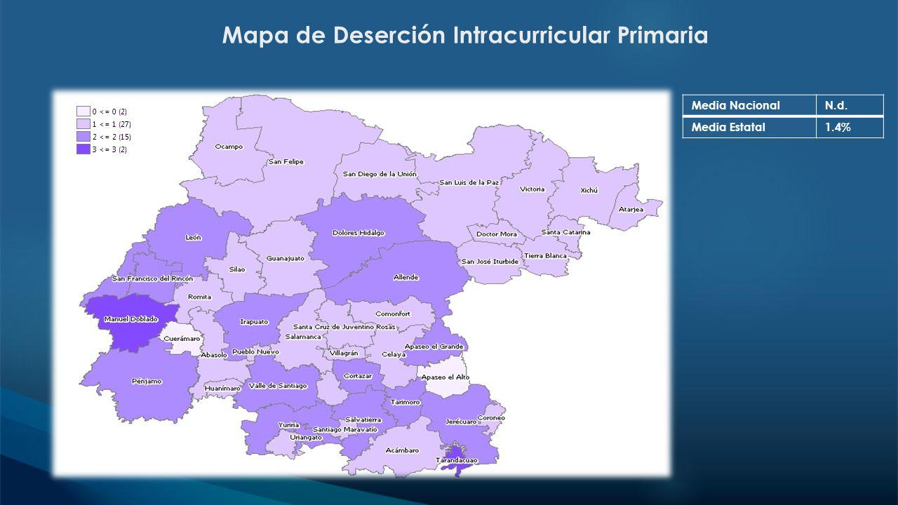 Mapa de Deserción Intracurricular Primaria
