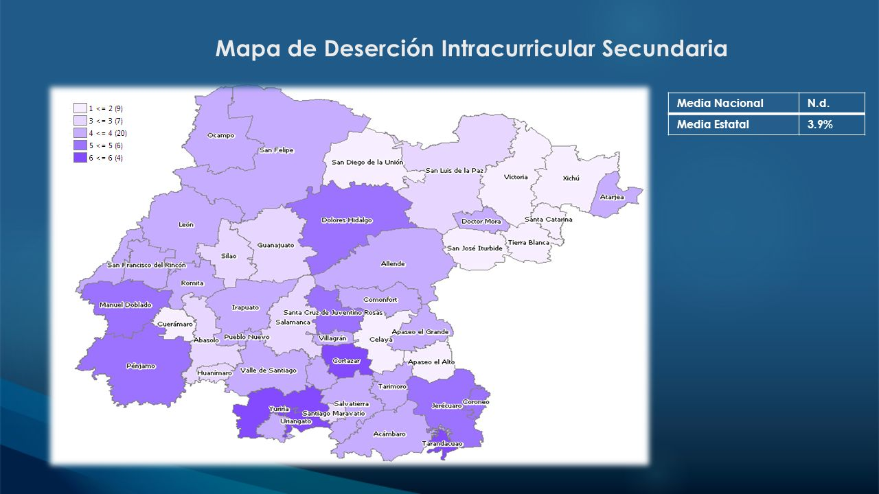 Mapa de Deserción Intracurricular Secundaria
