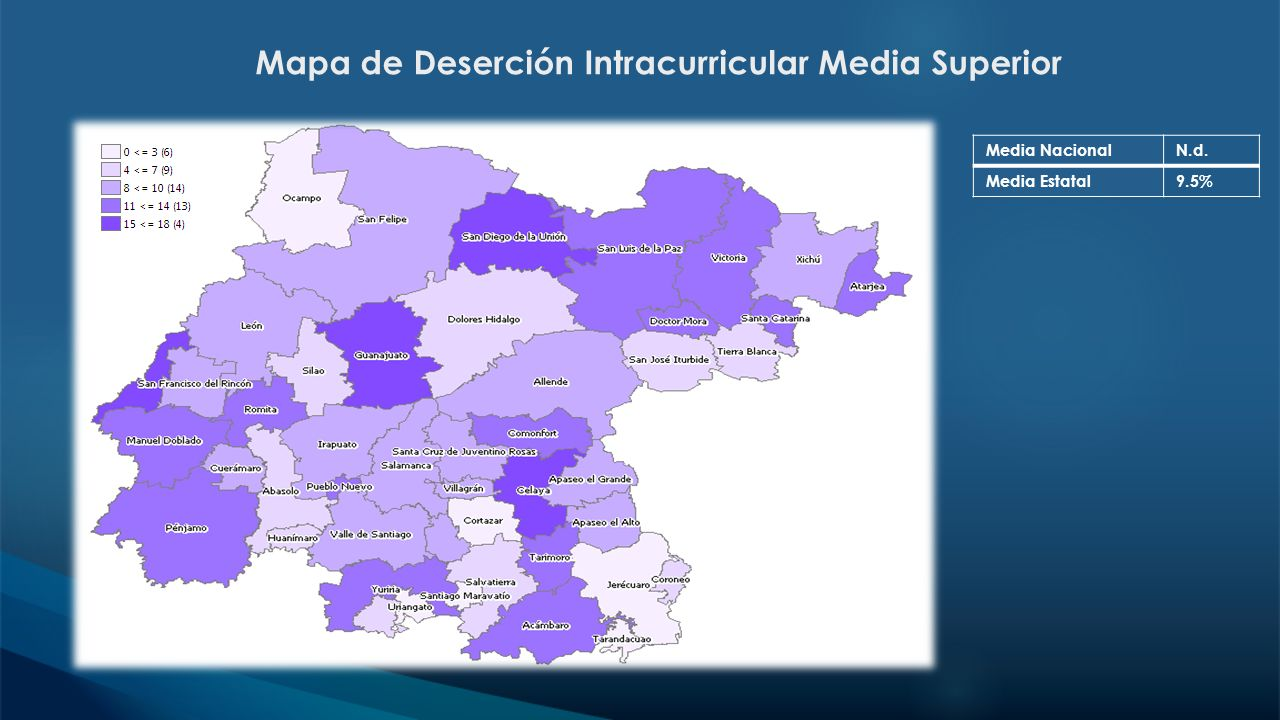 Mapa de Deserción Intracurricular Media Superior