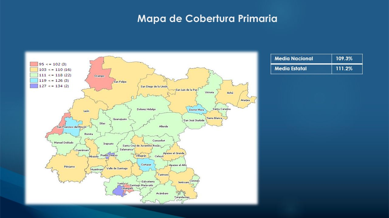 Mapa de Cobertura Primaria