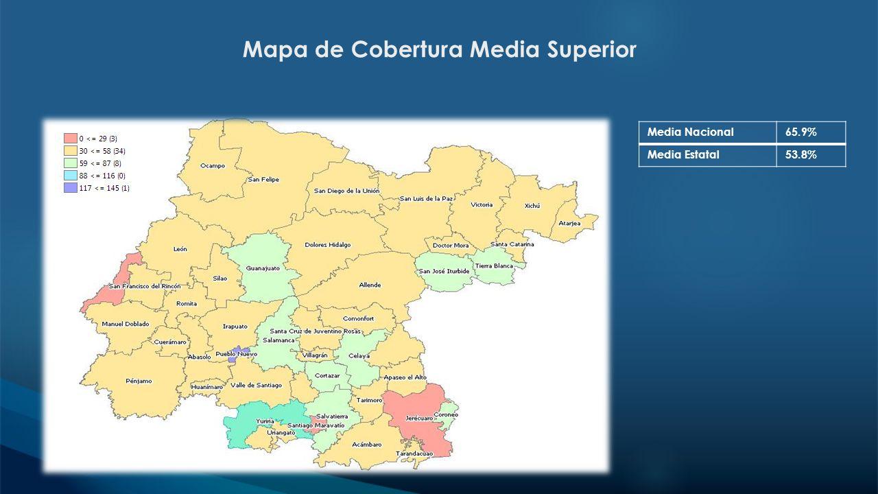 Mapa de Cobertura Media Superior